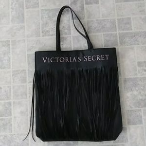 Victoria Secret Logo Flirty Fringe Tote Bag